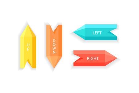 오른쪽 아래 왼쪽 방향 벡터를 표시하는 화살표