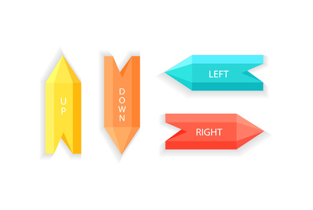Arrows Showing Up Down Right Left Direction Vector Stok Fotoğraf