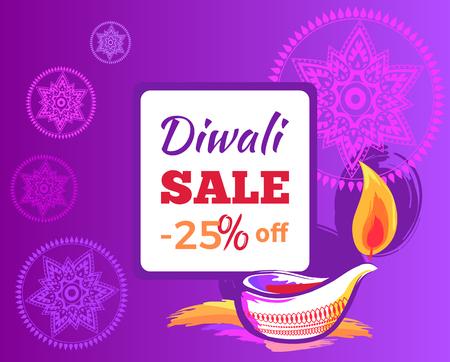 Diwali Sale -25 off Sign Vector Illustration