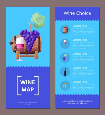 와인지도 선택 템플릿 벡터 일러스트 아이콘