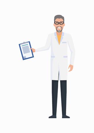 Doctor with Prescription Icon Vector Illustration