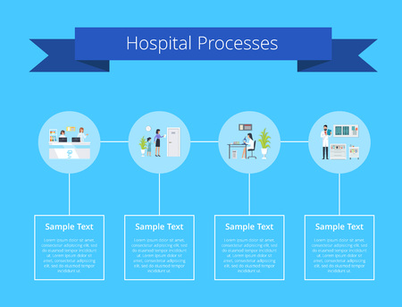 Hospital Processes Manual Vector Illustration Vettoriali