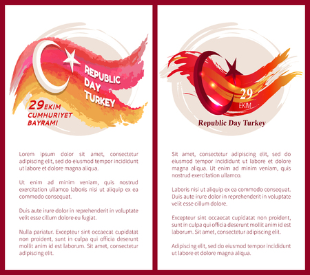 Turkey Republic Day Congratulation Postcard
