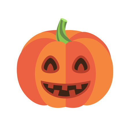 Closeup of Smiling Pumpkin Vector Illustration