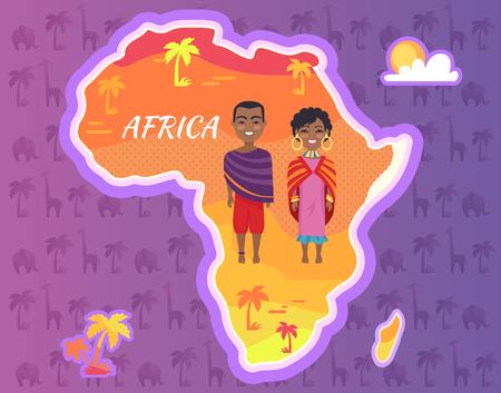 아프리카 대륙 벡터 아프리카 사람들 스톡 콘텐츠 - 90923239