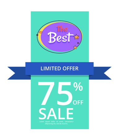 Limited Offer 75 Off Best Night Sale Banner Иллюстрация