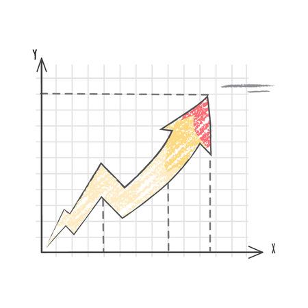 Line Graph Representing Data Vector Illustration Illustration