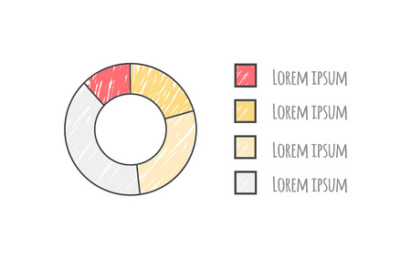 Pie Diagram Data with Text on Vector Illustration 向量圖像