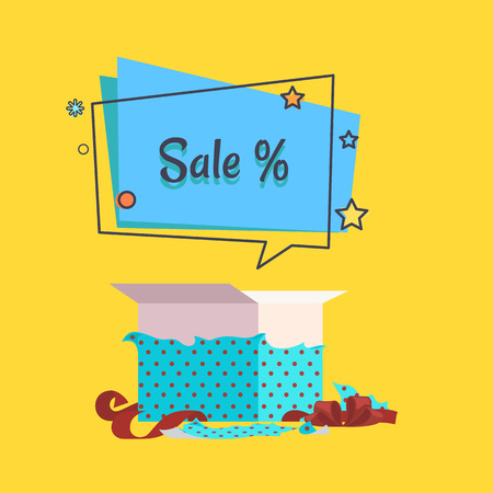 Sale Banner with Speech Bubble Vector Poster