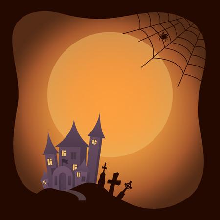 Halloween Traditional Image on Vector Illustration