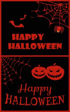 Happy Halloween Placard on Vector Illustration Ilustração