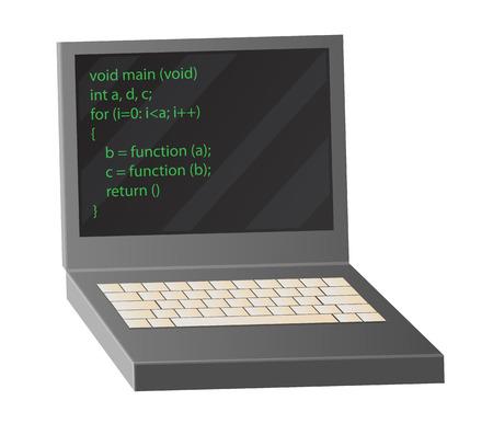 Open notebook met coderingsprocesvector