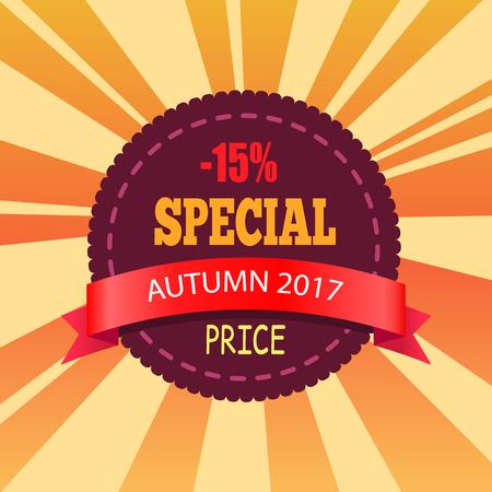 - 15 Special Autumn Price Promo Label Design