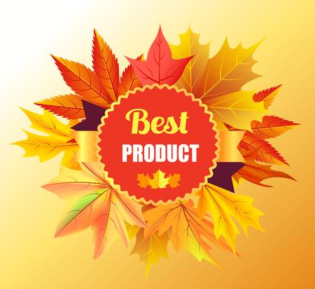 단풍 나무를 이용한 최고의 제품 상장 스탬프 디자인