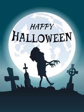 Happy Halloween Scary Congratulation Postcard.