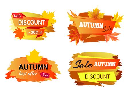 Beste herfst korting aanbieding vectorillustratie Stock Illustratie