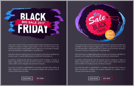 Grote verkoop Black Friday ronde opknoping Tag stempel pictogram Stock Illustratie