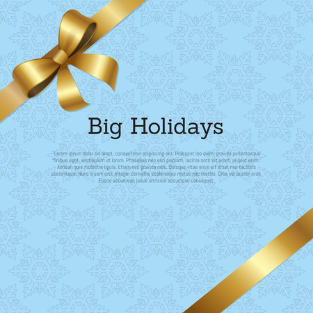 Big Holidays Promo Poster Text Decorated Vector Ilustracja