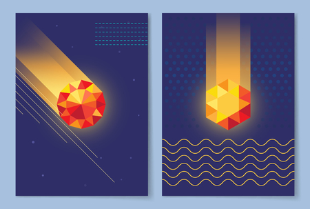 Set of Dark Wallpapers Vector Illustration Ilustrace