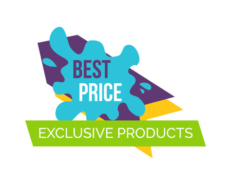 Best Price Exclusive Products Vector Illustration Illustration