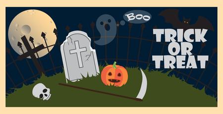 Trick or Treat Halloween on Vector Illustration