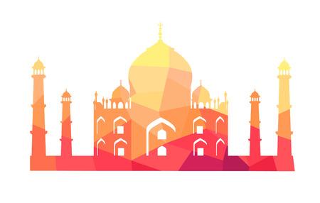 Famous Indian Building of Taj Mahal Illustration