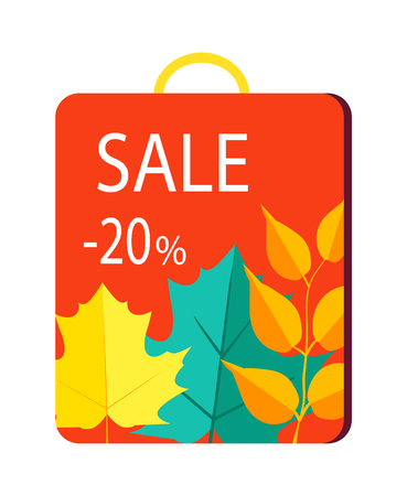 Sale 20 Promo Poster on Shopping Bag with Handle