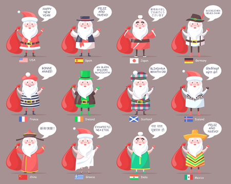Santa Clauses from Countries All Over World