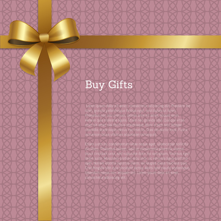 Buy Gifts Certificate Greeting Card Design Vector