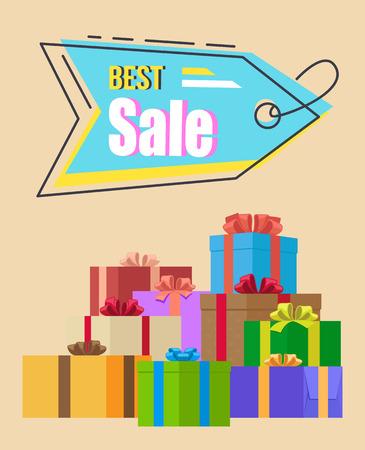 Best Sale Promotion Tag Vector Illustration