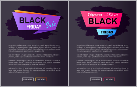 Black Friday Sale Promo Posters with Advert Info