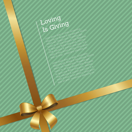 Loving is Giving Certificate Greeting Card Design Stock Vector - 90839464