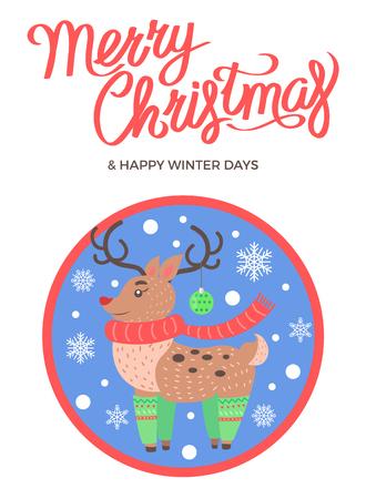 Merry Christmas and Happy Winter Days Deer Socks
