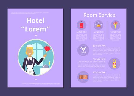 Hotel Room Service Information List Illustration