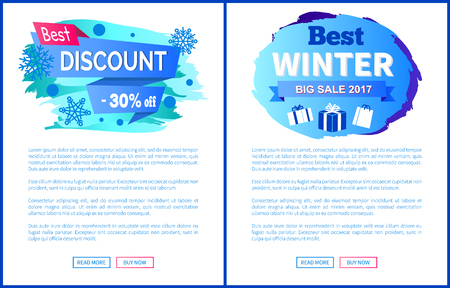Best Discount -30 Off Winter Sale Labels Posters