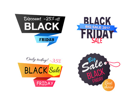 Discount -25 Off Only Today Vector Illustration