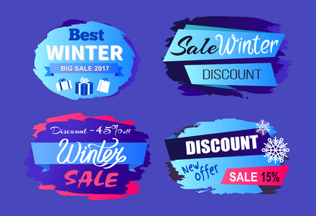 Best Winter sale 2017 Price Discount Today Offer Illustration