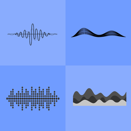 Equalizer Interface Icons Vector Illustration