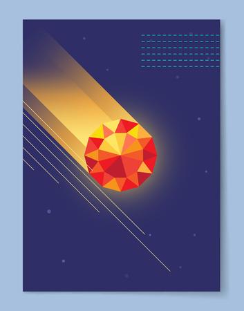 Dark Wallpaper with Diamond Vector Illustration