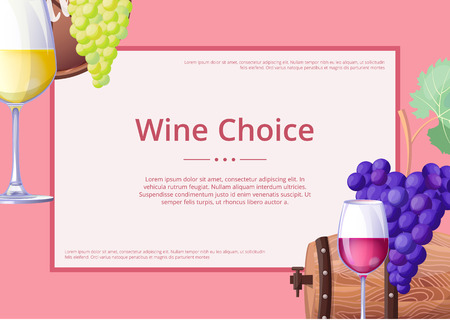 Wine Choice Promo Poster on Vector Illustration