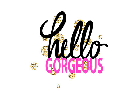 Hello Gorgeous Graffiti Vector Illustration