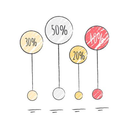 Percentage Visualization Icon Vector Illustration