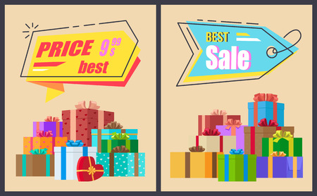 Best Sale End Price Label with Lace Promo Presents Illustration