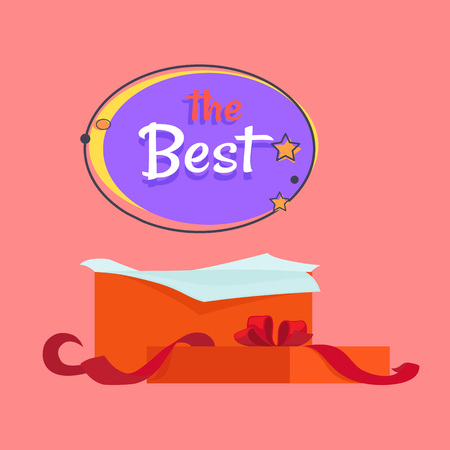 The Best Night Sale Banner with Moon and Stars Ilustração