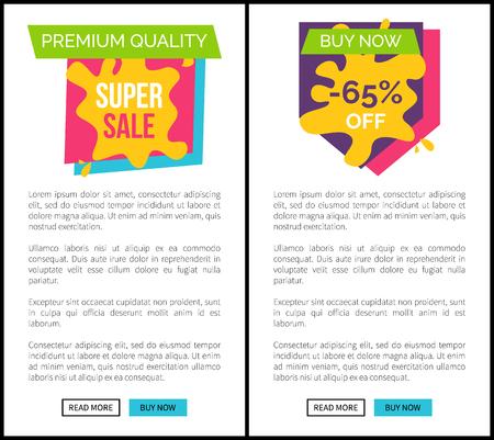 Premium Quality Super Sale Buy Now Web Pages Set