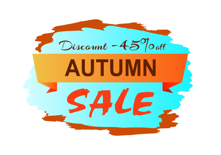 Autumn Discount Clearance Vector Illustration