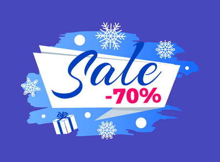Winter Seasonal Sale Advert Vector Illustration Illusztráció