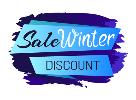Winter Sale Clearance Icon Vector Illustration Ilustrace