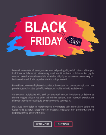Black Friday Sale Prom Web Poster Advertising Info 向量圖像