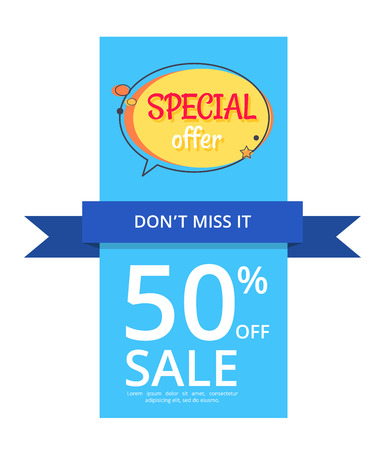 Special Offer Sale Advertisement 50 Off Poster